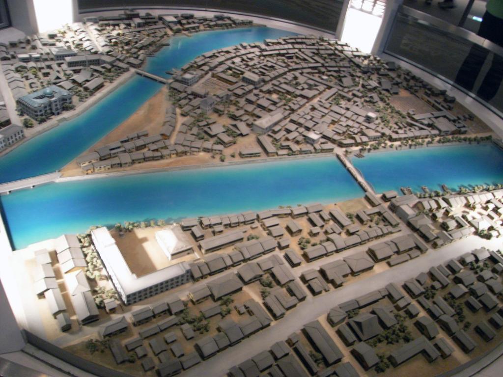 Hiroshima Modell vor der Atombombe