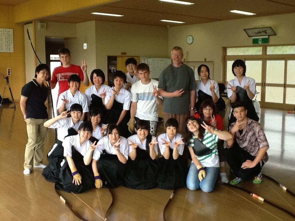 Gruppenfoto nach dem Kyudo