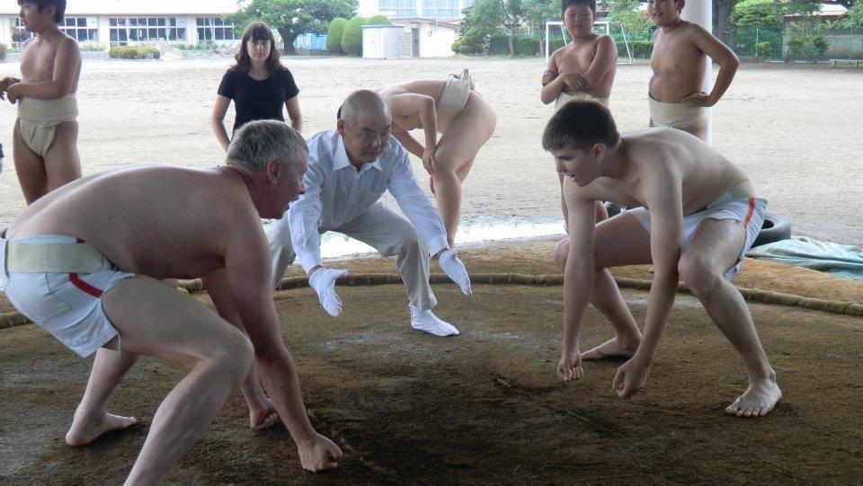 Ich beim Sumo