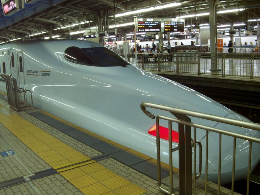 Bullettrain (Shinkansen) in Osaka