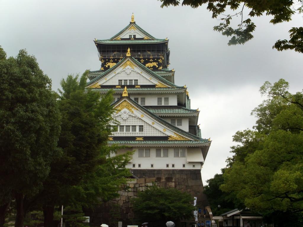 Das beeindruckende Schloss in Osaka
