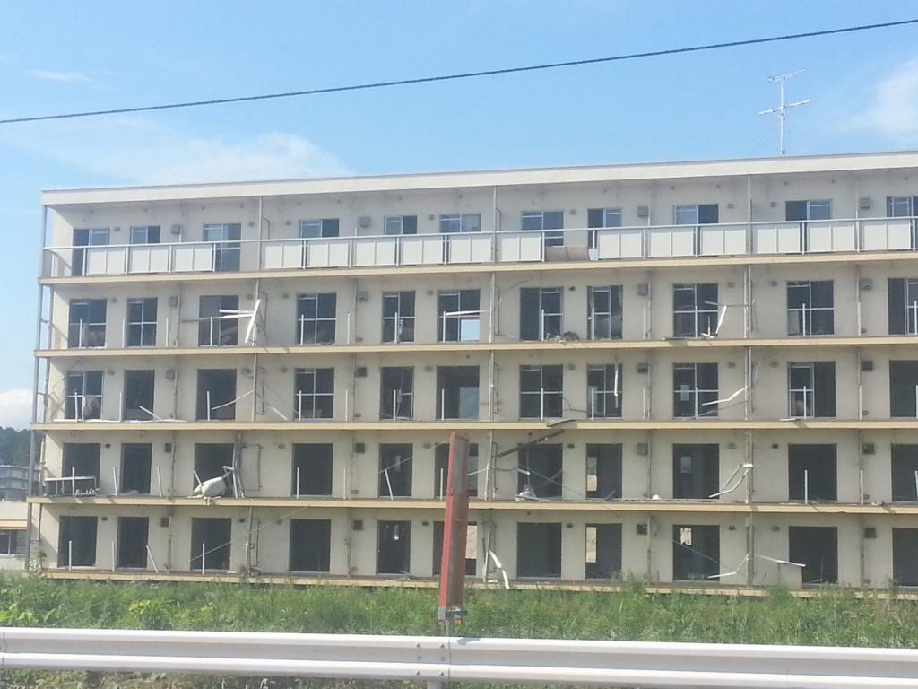 Vom Tsunami zerstörtes Gebäude in Ofunato