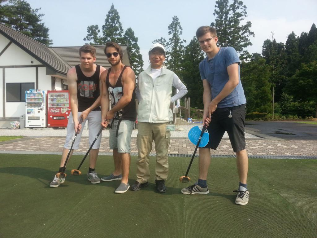 Besuch beim Golfverein in Oshu