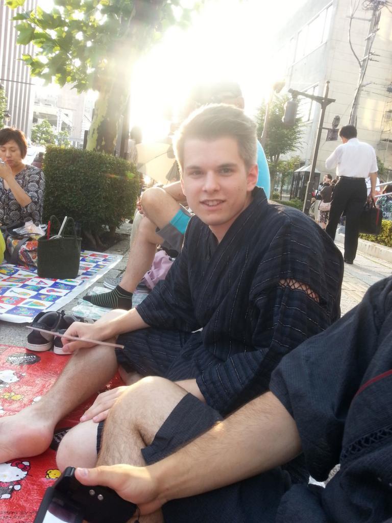Ich beim Sansa Odori Matsuri in Morioka, Japan