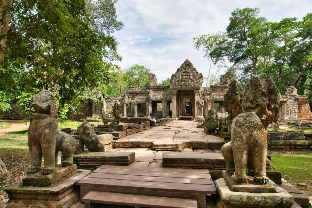 Preah Khan aus der Ferne in Kambodscha