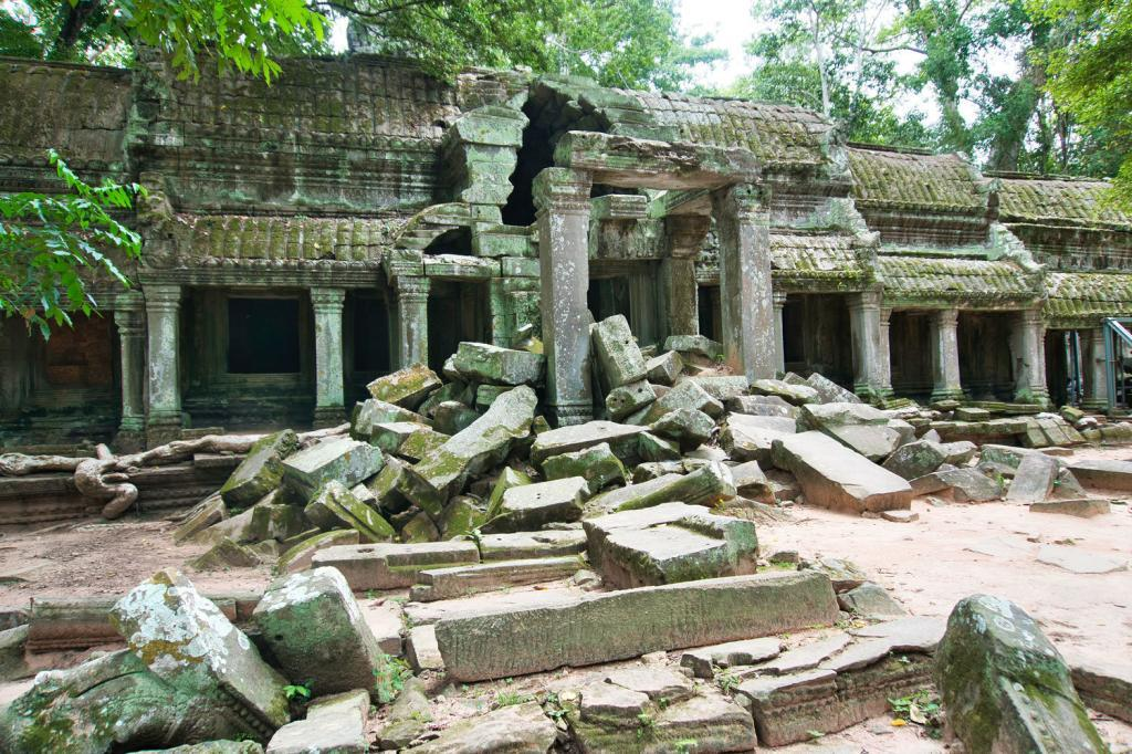 Gemäuer des Ta Prohm in Kambodscha