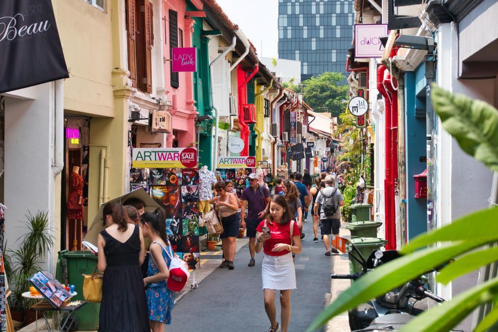 Geschäfte im arabischen Viertel in Singapur