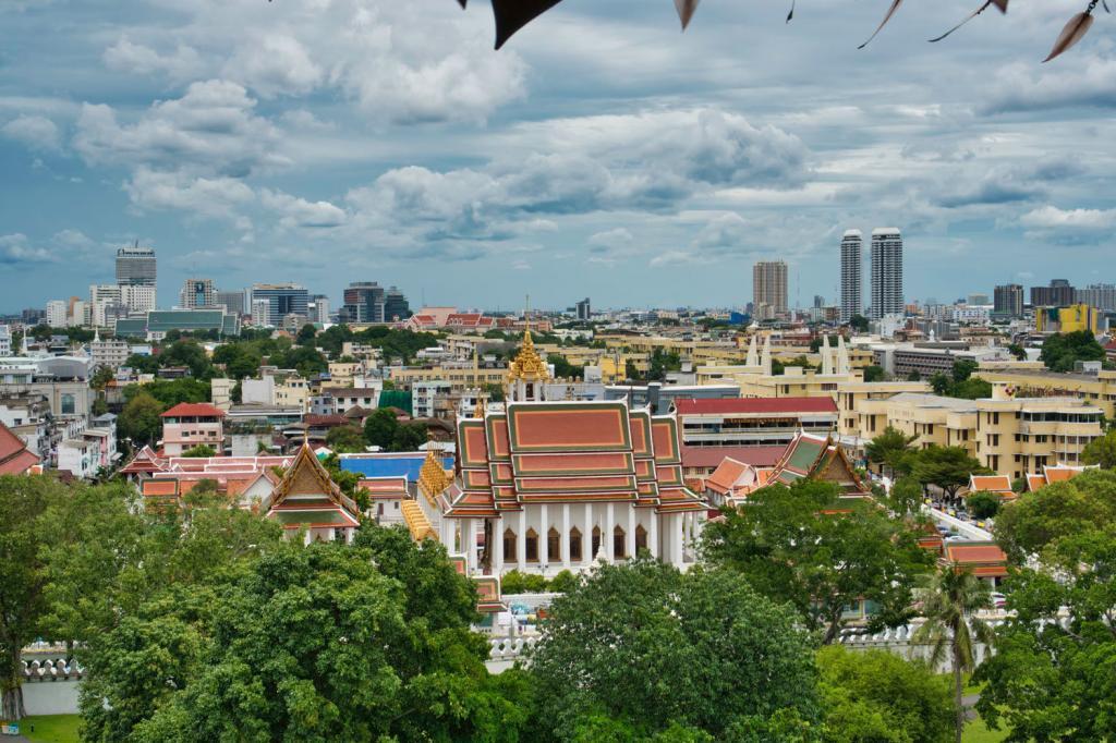 Aussicht vom Golden Mount in Thailand