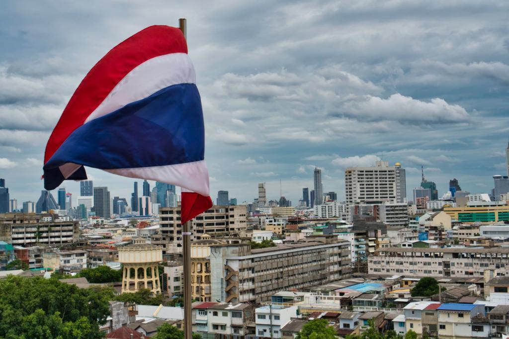 Skyline von Bangkok vom Golden Mount in Thailand