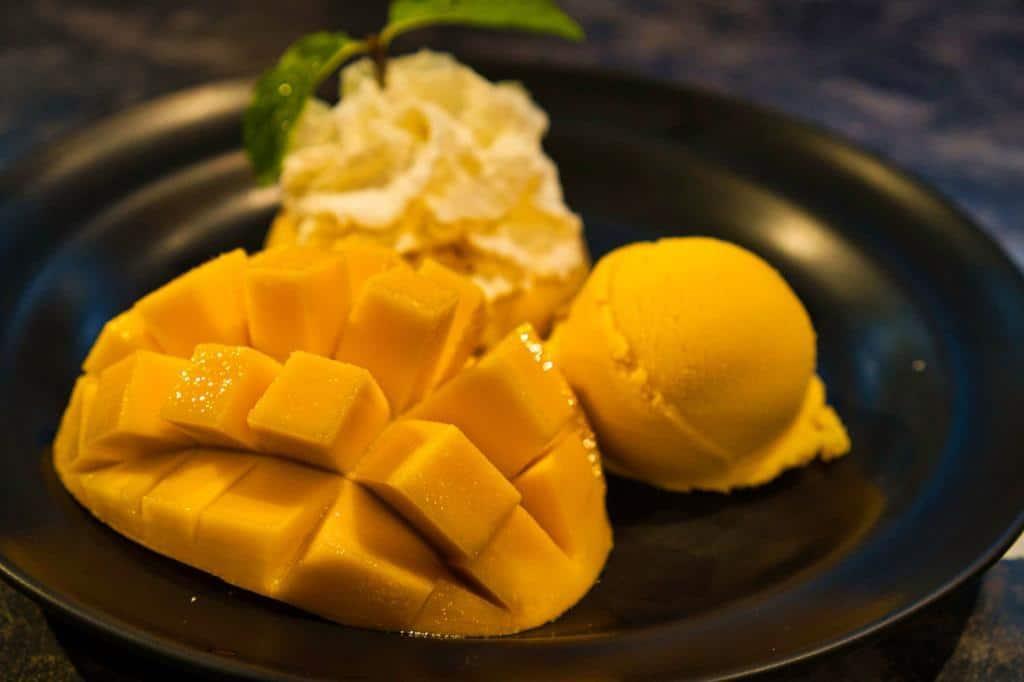 Mangogericht bei Mango Tango in Thailand