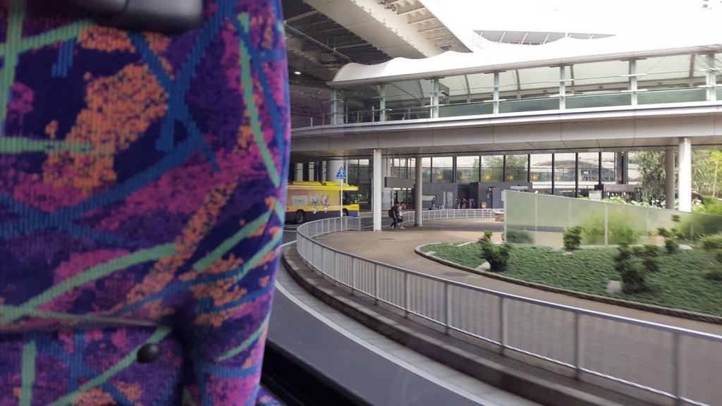 Blick aus dem Shuttle Bus
