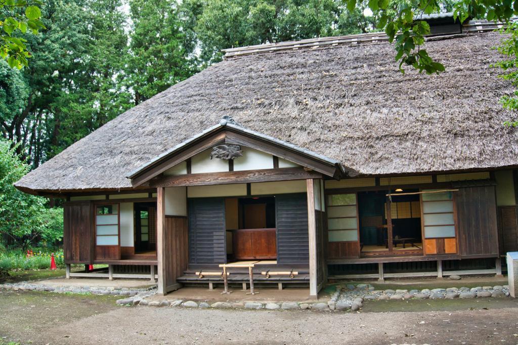 Traditionelles japanisches Bauernhaus der Yoshino Familie.