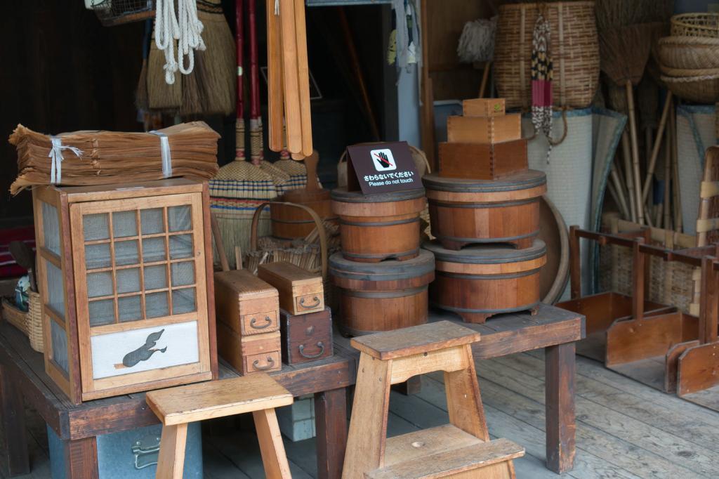 Traditionelle japanische Alltagsgegenstände.