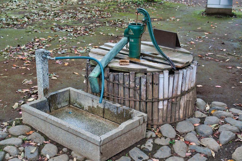Alter japanischer Brunnen.