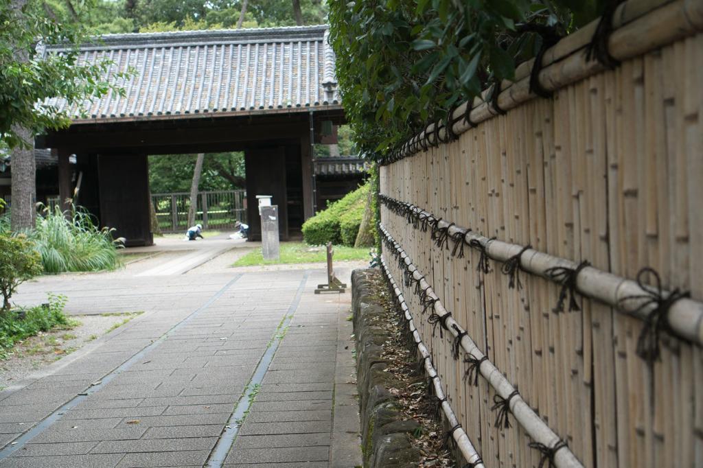 Das Tor der Residenz der Date Familie.