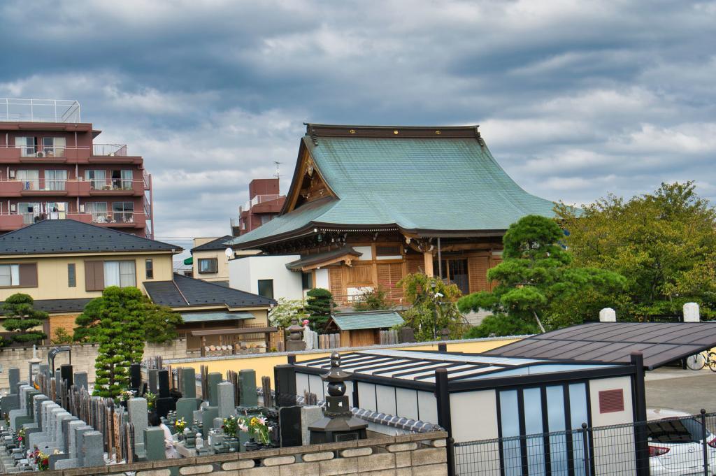 Templen in Katsushika City.