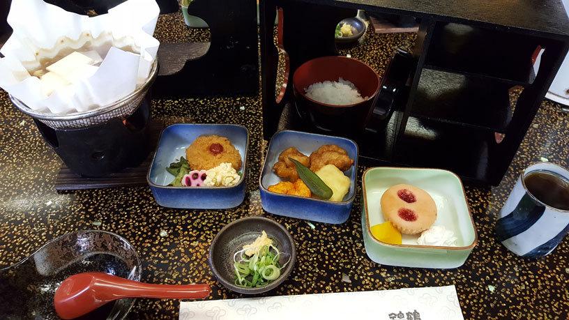 Typisches japanisches Mittagessen.