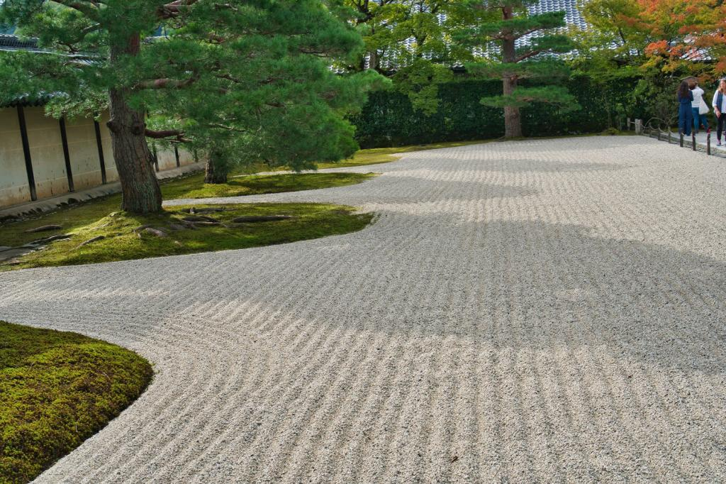 Steingarten im Tenryu-ji in Kyoto.