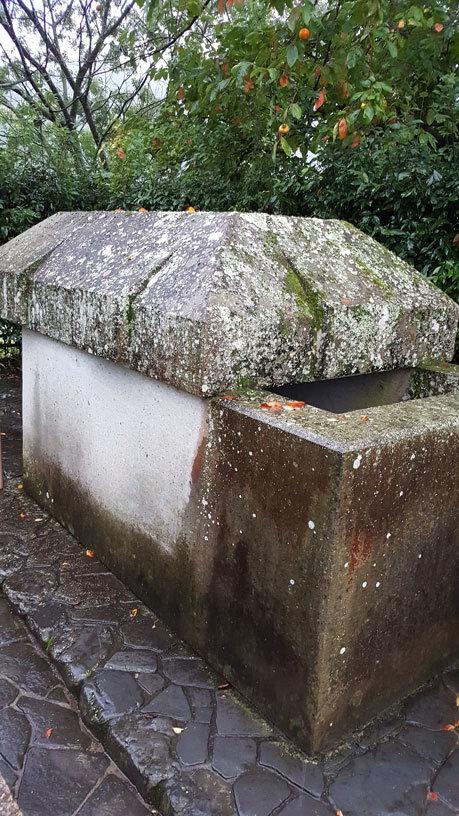 Ishibutai-Kofun: Sarkophag aus dem Ishibutai Hügelgrab in Asuka, Nara.