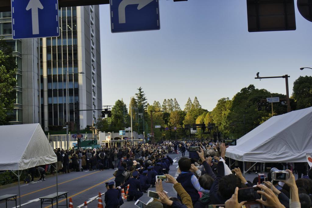 Japanisches Wort des Jahres: Reiwa hat es in die Top Ten geschafft, hier ein Bild der Parade zur Krönung des neues Kaisers.