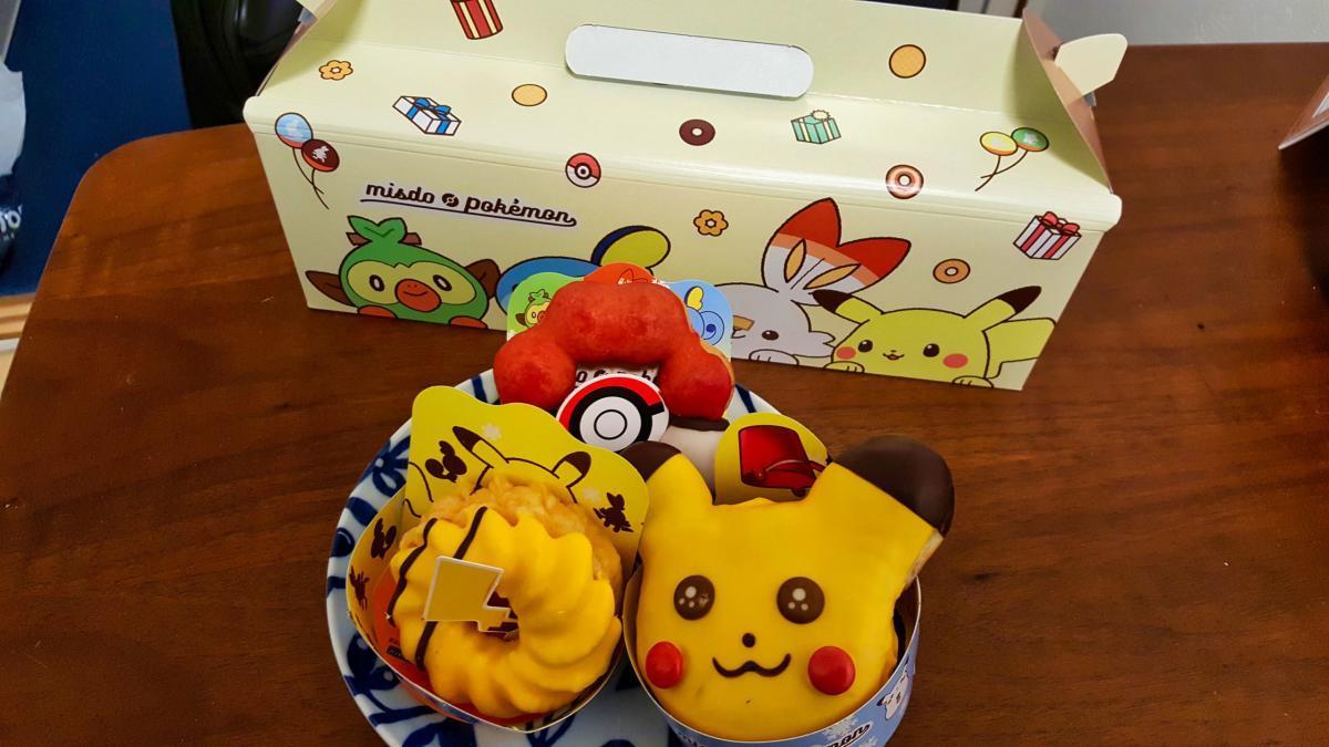 Die drei Pokémon Donuts.
