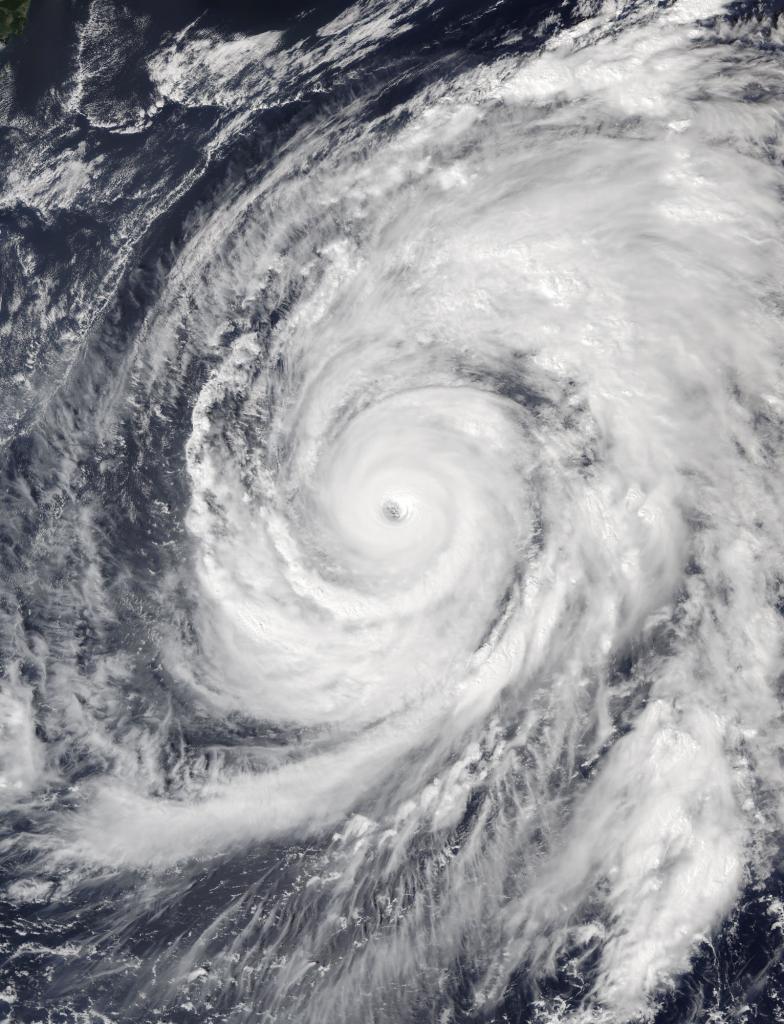 Der Taifun Hagibis im Jahr 2019.