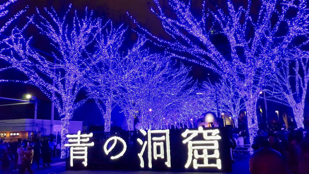 "Illumination in Japan: die Illumination im Yoyogi Park ""Ao no Dokutsu""."