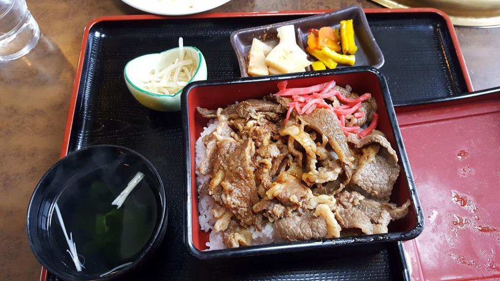Gyudon Lunchmenü in Asago
