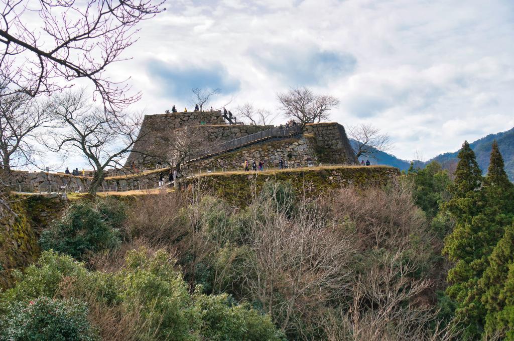 Bild der Ruinen der Burg Takeda