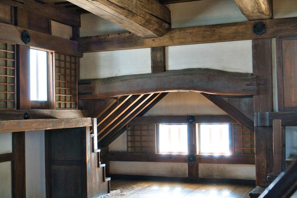 Innenraum in der Burg Himeji.