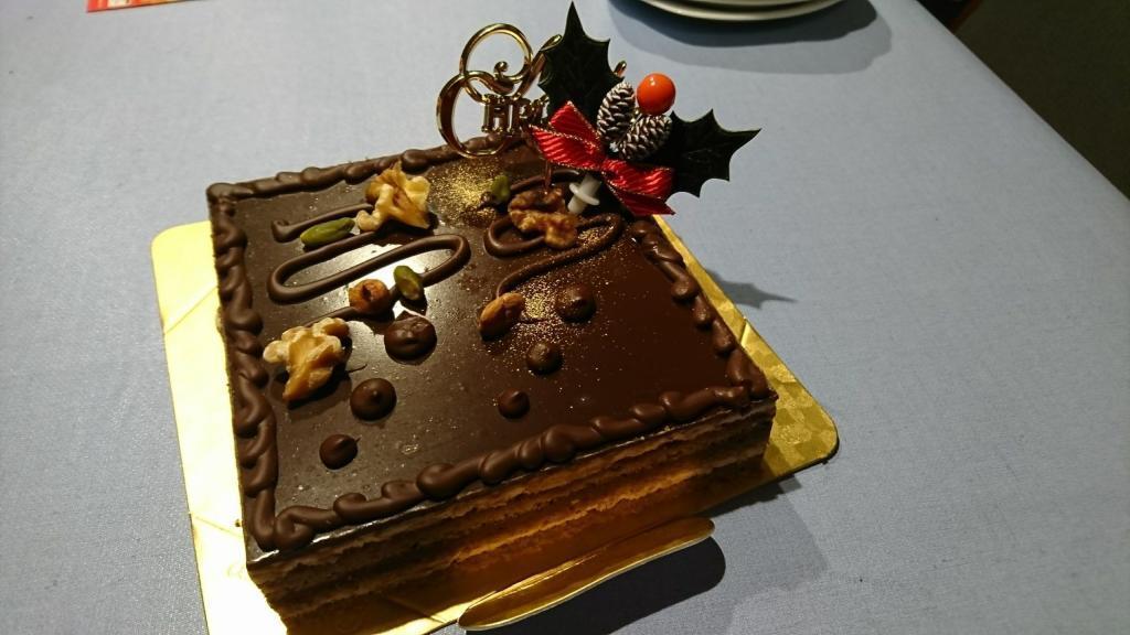Japanische Weihnachtstradition: Der Weihnachtskuchen, hier in Form eines Schokoladenkuchens.
