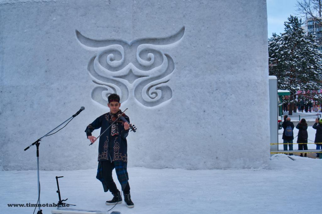 Bild eines Ainu-Konzertes beim Yuki Matsuri