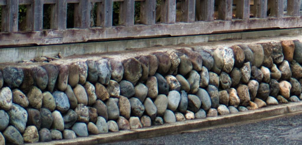 Bild des Steinwalls vor der Burg Kawagoe