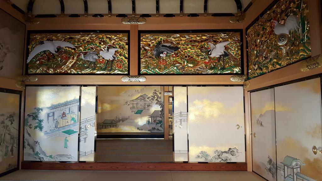 Bild des Inneren der Honmaru Residenz der Burg Nagoya