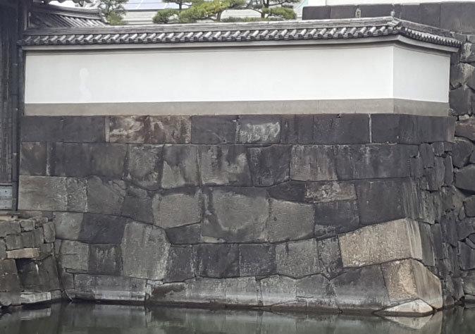 Bild eines Nunozumi Steinwalls der Burg Edo