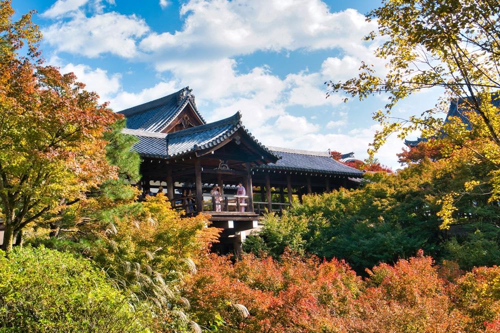 Tofuku-ji in Kyoto in Japan im Herbst