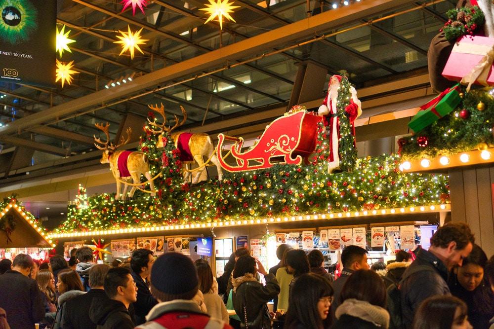 Deutscher Weihnachtsmarkt beim Roppongi Hills Einkaufszentrum im Winter
