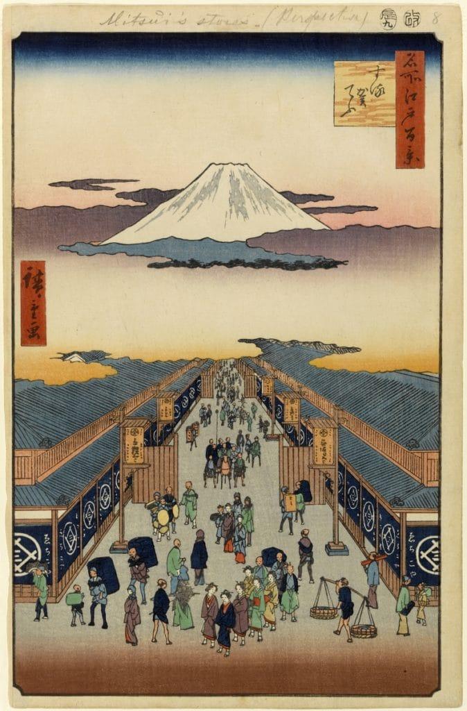 Geschichte der japanischen Kleidung: 100 Ansichten von Edo