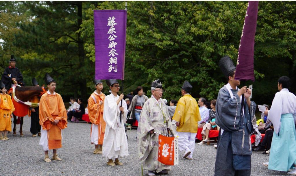 Kleidung während der Heian-Zeit auf dem Jidai-Matsuri in Kyoto.