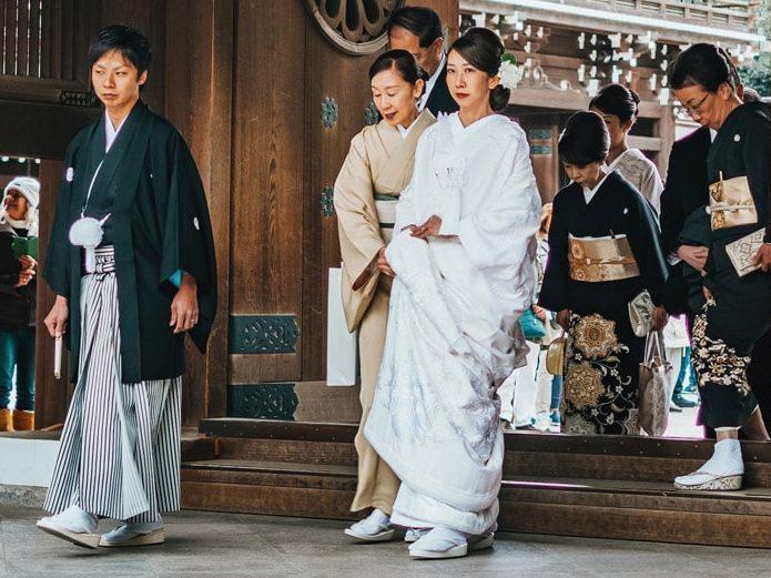 Eine japanische Hochzeitsfeier