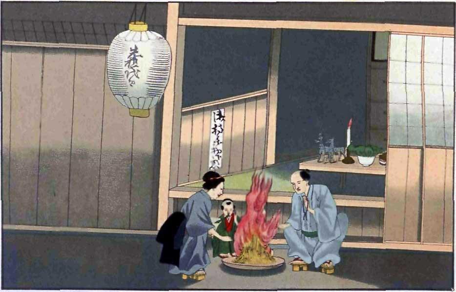 Eine Darstellung des Obon in der späten Edo-Zeit